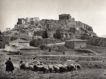 Старая фотография горы Акрополь, Греция
