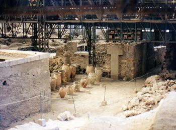 Раскопки в Акроти, Санторини, Греция