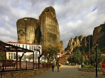 Деревня Кастраки у подножия Метеоры, Греция