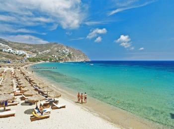 Пляж Elia, Миконос, Греция