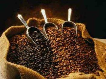 Мешок с зернами кофе