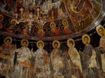 Купол церкви монастыря Святой Троицы в Метеорах, Греция