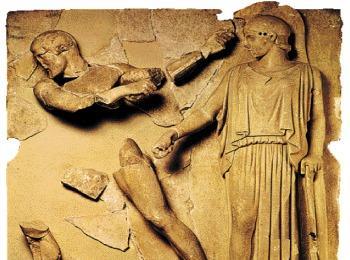 Метопы храма Зевса в Олимпии (музей Олимпии, Греция)