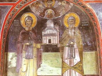 Основатели моностырей Метеоры - святые Афанасий и Иосаф