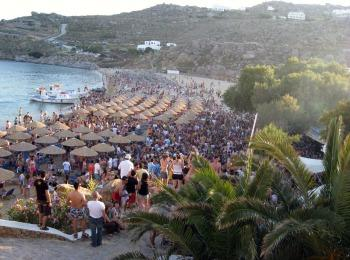 Пляж кэмпинга Paradise Beach Resort, Миконос, Греция