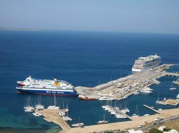 Порт острова Миконос, Греция
