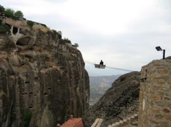 Воздушные переправы между монастырями Метеоры, Греция