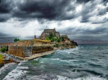 Зима на острове Корфу, Греция
