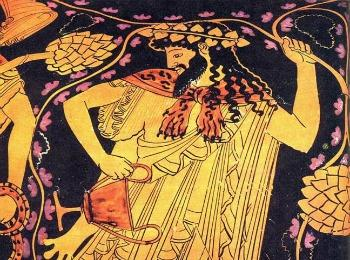 Бог вина Дионисос, Греция