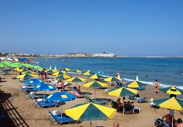 Песчаный пляж Кумбес, Ретимно, Крит