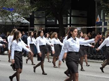 Парад на улицах Салоник