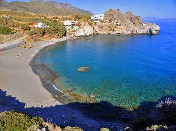 Чудесный песчаный пляж Агиос Павлос на Крите