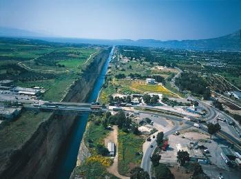 Пелопоннес, Коринфский канал