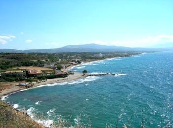Ветреный полдень на пляже Скалетта, Ретимно, Крит