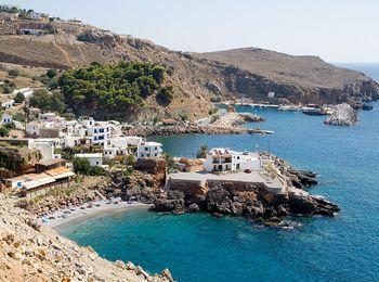 Жизнь рыбацкого поселка Сфакион на Крите