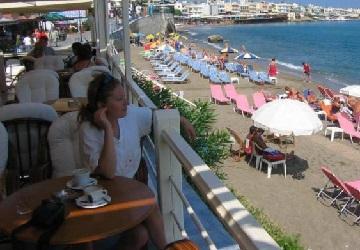 Оборудованный пляж отеля