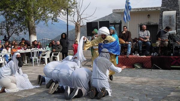 Старинный шуточный обычай Ага на острове Хиос