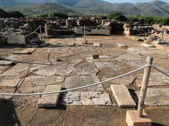 Минойские развалины, раскопки, остатки