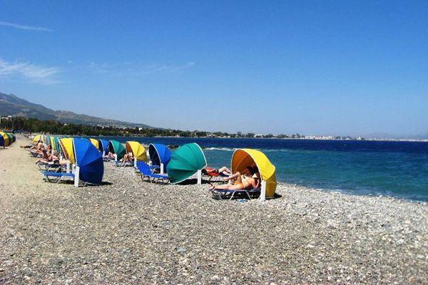 Мелкогалечный частный пляж
